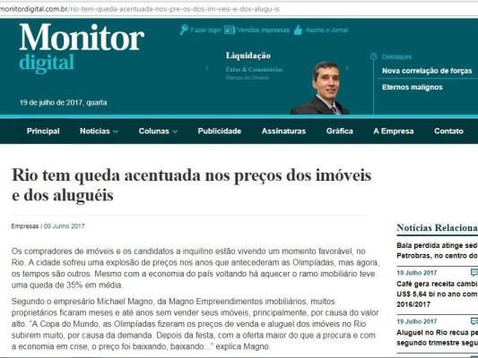 Monitor Digital Rio tem quedas